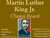 Martin Luther King Jr. Day Choice Board Holiday Activities