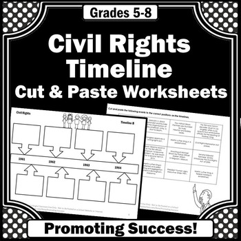 Civil Rights Movement Project, Black History Month, Civil Rights Timeline