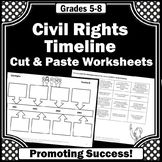 Civil Rights Movement Timeline, Black History Month Activities