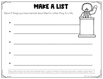 Martin Luther King Jr. Activities | MLK Jr. Differentiated Close Reading Packet