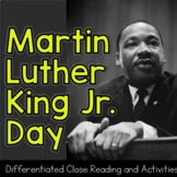 MLK | Martin Luther King Jr. Activities | Differentiated C