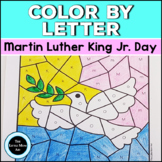 Martin Luther King Jr Color by Letter   MLK Alphabet Coloring Pages