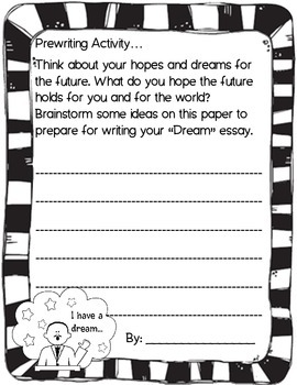 Martin Luther King Jr. Day - Craft / Project / Writing Acvitity