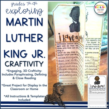 Martin Luther King Jr. Day-Craftivity-January Activity-Middle School