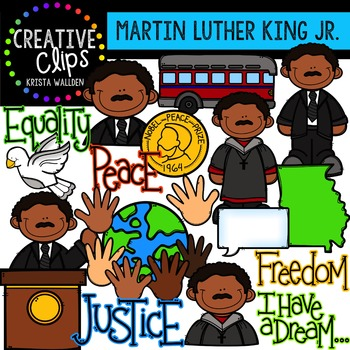 Martin Luther King Jr. Clipart: {Creative Clips Digital ...