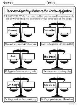 Martin Luther King, Jr. Day Grammar Packet