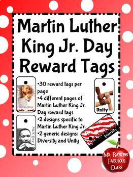 Martin Luther King Jr. Day Holiday Brag Tags MLK