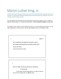Martin Luther King, Jr. Day Lesson Plan