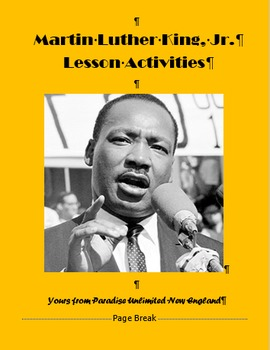 Martin Luther King, Jr. Day Lesson Plans Gr. 7-12