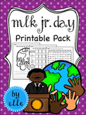Martin Luther King, Jr. Day Math and Literacy Printable Pack