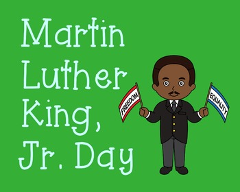Martin Luther King, Jr. Day Poster, Class Decor, Holiday Sign, Bulletin Board