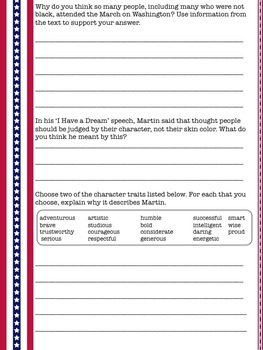 Martin Luther King Jr Informational Text