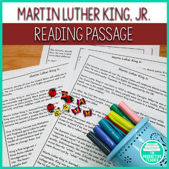 Martin Luther King, Jr. Day: Differentiated Reading Passages and ...