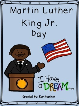 Martin Luther King Jr. Day Reading and Writing Activity Wo