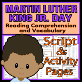 Martin Luther King Jr. Readers Theater Holiday Script, Reading & Activity Packet