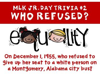 Martin Luther King Jr Day Trivia