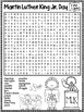 Martin Luther King Jr. Day Word Search Activity
