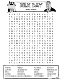 Martin Luther King Jr. Day Word Search Puzzle (All Ages - Intermediate Difficult