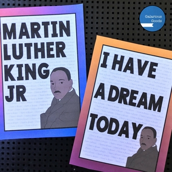 Martin Luther King Jr Day Word Wall, Posters and Activities