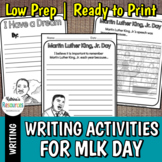 Martin Luther King, Jr. Day Writing Activities - Elementary