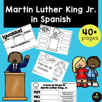 Martin Luther King Jr. Day in Spanish (dia de MLK) espanol- actividades