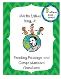 MLK Day Differentiated Reading Passages and Comprehension Questions