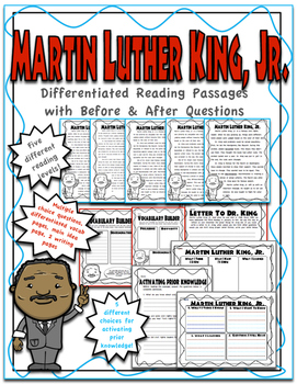 Martin Luther King, Jr. Differentiated Reading Passages