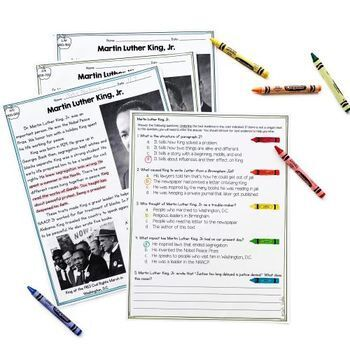 Martin Luther King Jr. Differentiated Reading and Writing Activities