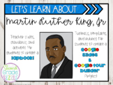 Martin Luther King, Jr. Project- includes a lapbook and a Google project!