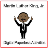 Martin Luther King, Jr. Digital Paperless Activities - Distance Learning