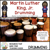 Martin Luther King Jr. Drumming and Writing Black History