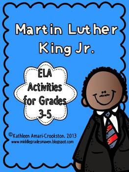 Martin Luther King Jr. ELA Activities for Grades 3-5