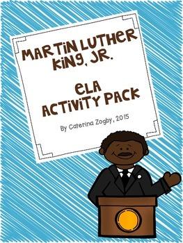 Martin Luther King Jr ELA Activity Pack