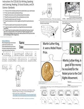 Martin Luther King, Jr. ELA/Math/Science/SS CCSS Kindergarten SPED/ELD