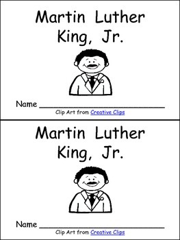 martin luther king jr early reader kindergarten and first grade