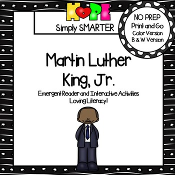 Martin Luther King, Jr., Emergent Reader Book AND Interactive Activities