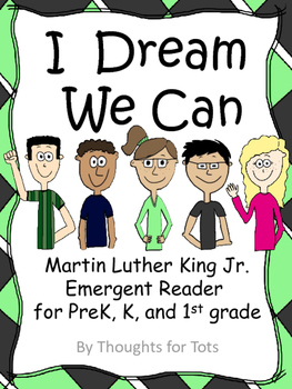 Martin Luther King Jr. Emergent Reader, Prek, Kindergarten, 1st grade