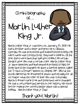 Martin Luther King, Jr. Emergent Reader {Vocab. Cards & Mini Bio Included}