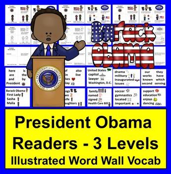 Barack Obama Readers for Black History Month - 3 Levels +