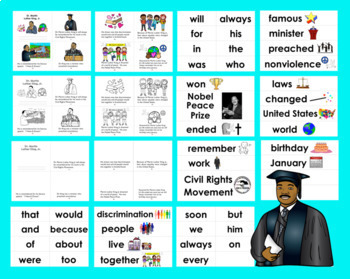 Martin Luther King, Jr. Activities: Mini Books - 3 Levels +Illustrated Word Wall
