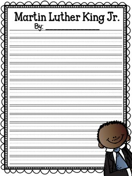Martin Luther King Jr {FREEBIE} Writing Organizers 12 Pages