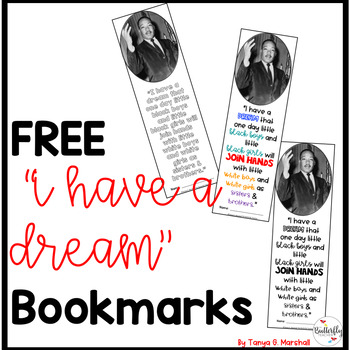 Martin Luther King Jr Freeie I Have A Dream Bookmark Black