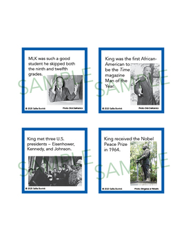 Martin Luther King Jr Unit Activity Fun Fact Cards For Games