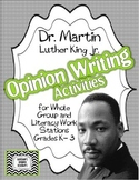 Martin Luther King Jr. Fact and Opinion Writing Activities K-3