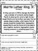 Martin Luther King Jr Facts No Prep Printables Non-fiction