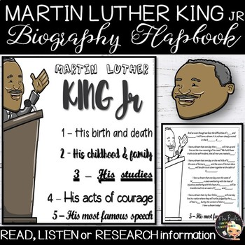 Martin Luther King Jr Flapbook By Mrs Recht S Virtual Classroom Tpt