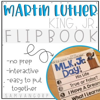 Martin Luther King, Jr. Flip Book PLUS Colored Poster & St