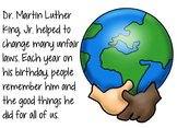 Martin Luther King, Jr. Flipchart and Worksheets