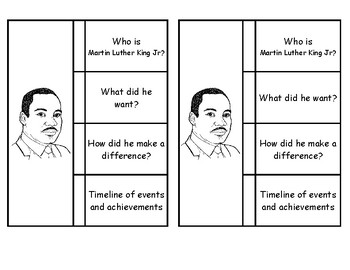 Martin Luther King Jr. Foldable (2 per page)