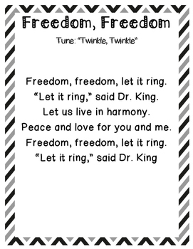 Martin Luther King Jr Freedom Song By Jen Wood Tpt